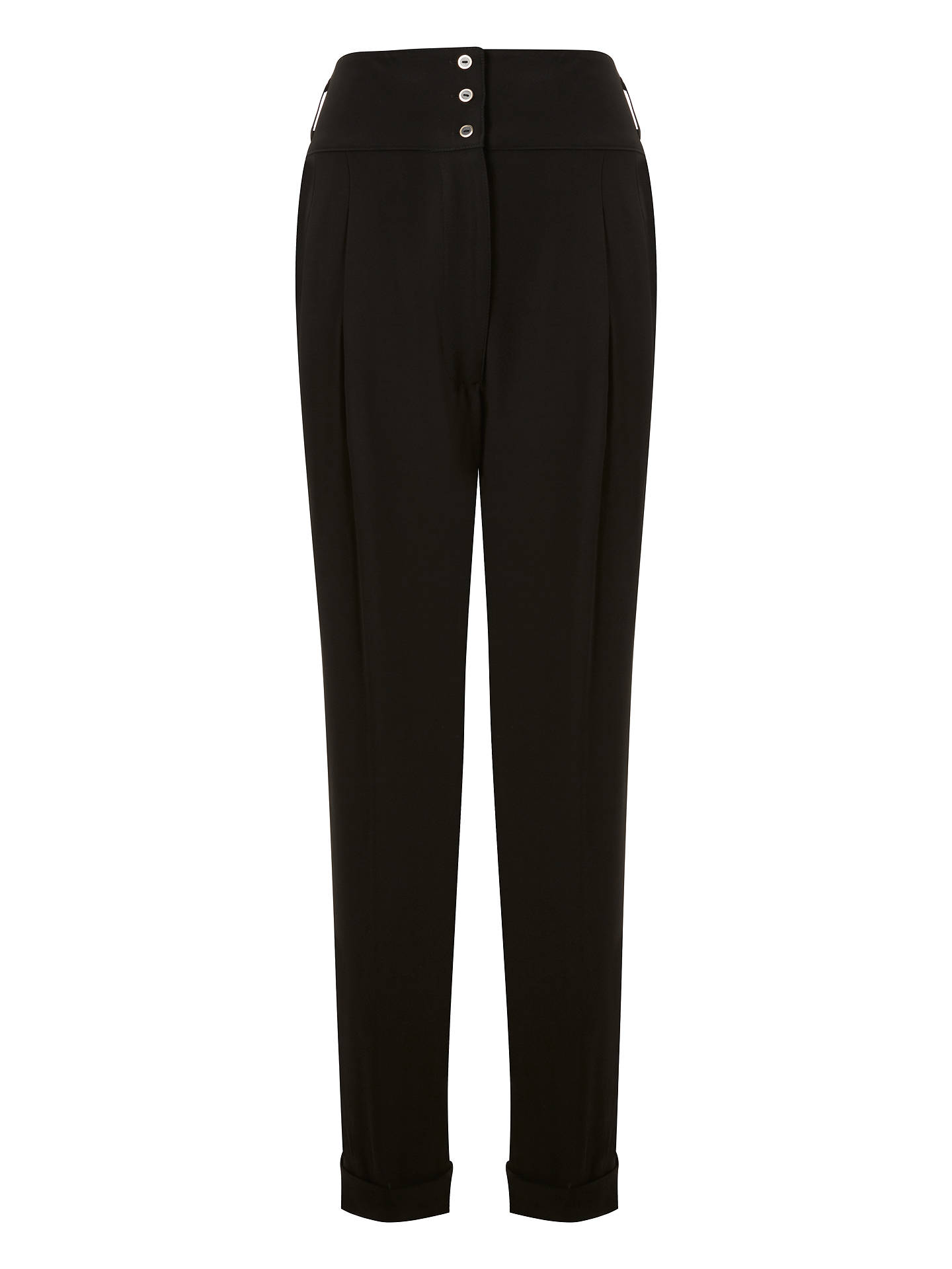 BuySomerset by Alice Temperley Turn Up High Waist Trousers, Black, 8 Online at johnlewis.com