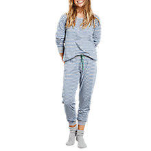 Buy hush Jersey Pyjamas, Grey Marl/Stone Blue Online at johnlewis.com