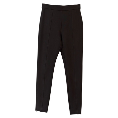 Buy Warehouse Ponte Trousers, Black Online at johnlewis.com