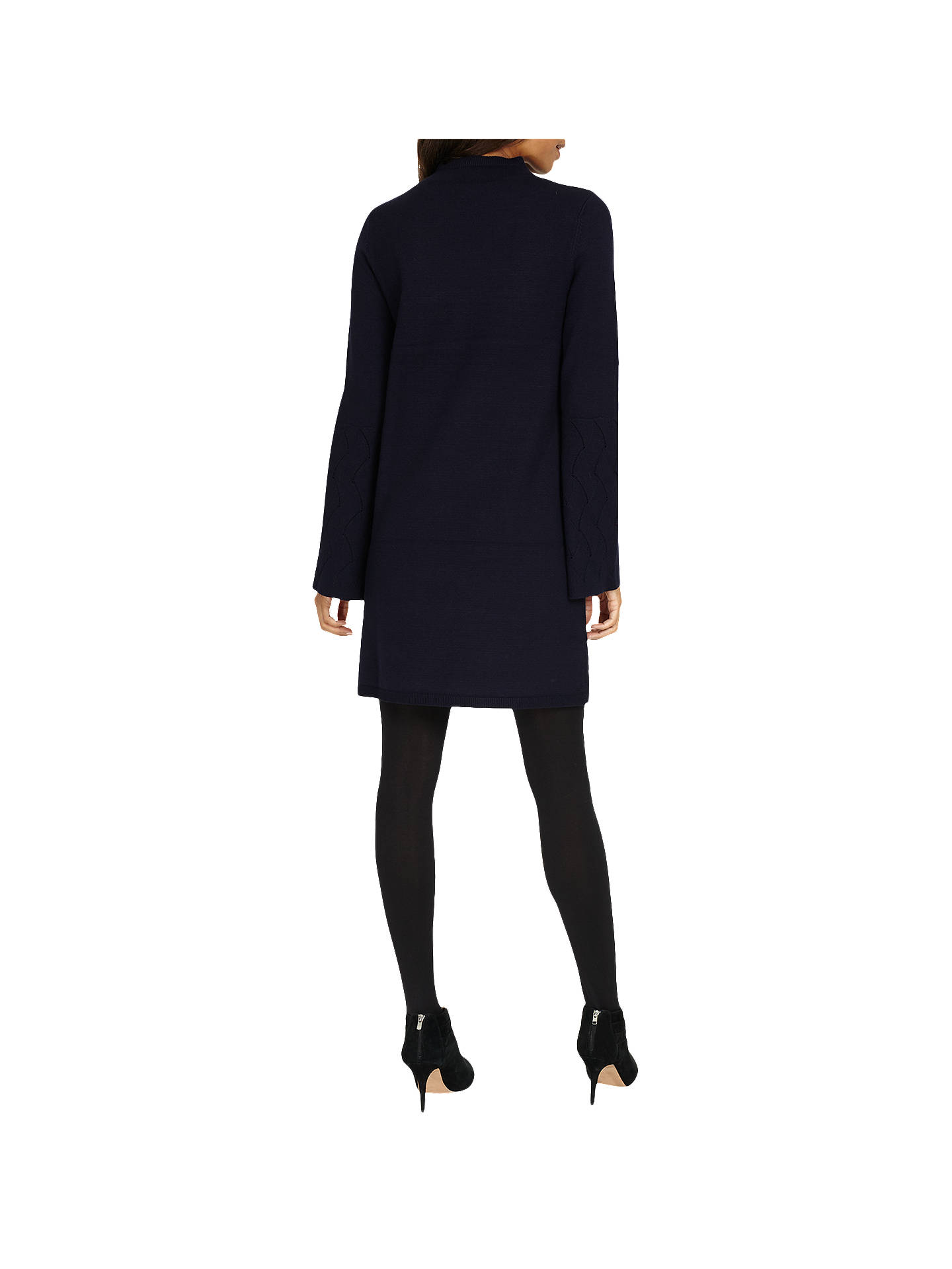 Buy Phase Eight Filicia Fluted Sleeve Knit Dress, Navy, 8 Online at johnlewis.com