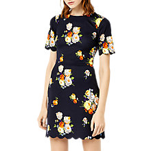Buy Warehouse Victoria Print Ponte Dress, Multi Online at johnlewis.com
