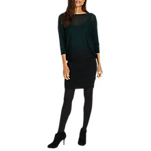 Buy Phase Eight Sheer Dip Dye Becca Dress, Pine/Black Online at johnlewis.com