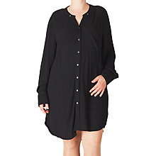 Buy ADIA Oversized Shirt Dress, Black Online at johnlewis.com