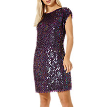 Buy Damsel in a dress Savannah Sequin Dress, Aubergine Online at johnlewis.com