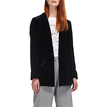 Buy Whistles Velvet Relaxed Jacket, Black Online at johnlewis.com