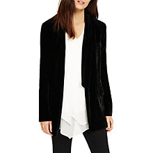 Buy Phase Eight Ivy Silk Velvet Jacket, Black Online at johnlewis.com