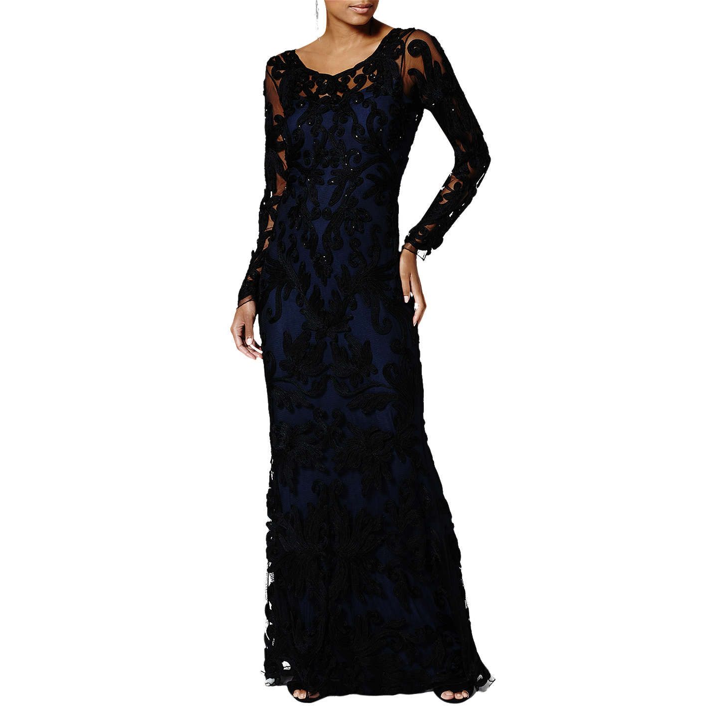 BuyPhase Eight Collection 8 Aubree Tapework Dress, Black/Midnight, 6 Online  at johnlewis ...