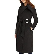 Buy Phase Eight Aisha Metal Ring Coat, Charcoal Marl Online at johnlewis.com