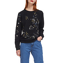 Buy Whistles Constellation Sweatshirt, Black Online at johnlewis.com
