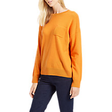 Buy Jaeger Cashmere Boxy Pocket Jumper, Orange Online at johnlewis.com