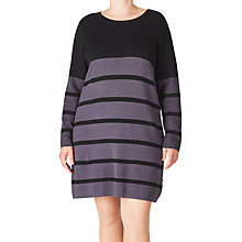 Buy AIDA Striped Pullover Dress, Dark Iron Online at johnlewis.com