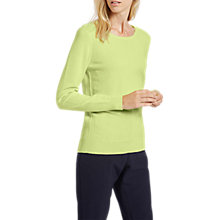 Buy Jaeger Crew Neck Jumper, Lime Online at johnlewis.com