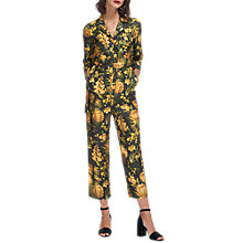 Buy Whistles Foxglove Print Silk Jumpsuit, Yellow/Multi Online at johnlewis.com