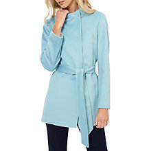 Buy Jaeger Funnel Neck Short Belted Coat, Slate Online at johnlewis.com