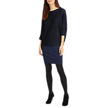 Buy Phase Eight Becca Batwing Sleeve Shimmer Dress, Cobalt Online at johnlewis.com