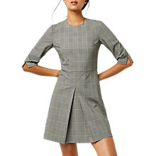 Buy Warehouse Check Box Pleat Dress, Multi Online at johnlewis.com