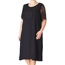 Buy ADIA Lace Detail Dress, Black Online at johnlewis.com