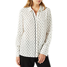 Buy Jigsaw Nordic Crest Silk Shirt, Ivory Online at johnlewis.com