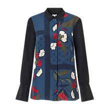 Buy Jigsaw Nordic Floral Silk Blouse, Multi Online at johnlewis.com