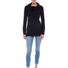 Buy French Connection Babysoft Cowl Neck Jumper, Black Online at johnlewis.com