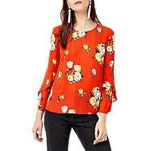Buy Warehouse Victoria Ruffle Sleeve Top Online at johnlewis.com