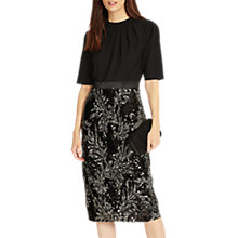 Buy Phase Eight Meg Embellished Dress, Black Online at johnlewis.com