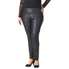 Buy ADIA Leather Look Trousers, Black Online at johnlewis.com