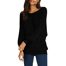 Buy Phase Eight Bettine Balloon Sleeve Jumper, Black Online at johnlewis.com