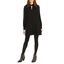 Buy Phase Eight Carolina Twist Neck Dress, Black Online at johnlewis.com