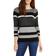 Buy Phase Eight Sabra Striped Jumper, Black/Charcoal Online at johnlewis.com