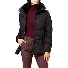 Buy Hobbs Leonie Puffer Jacket, Black Online at johnlewis.com