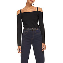 Buy Whistles Double Strap Bardot Top, Black Online at johnlewis.com
