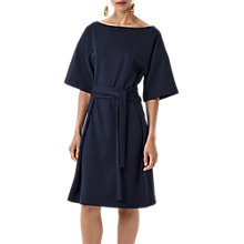 Buy Finery Hatcliffe Knee Length Jersey Dress, Navy Online at johnlewis.com