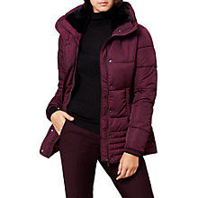 Buy Hobbs Leonie Puffer Jacket, Berry Online at johnlewis.com