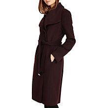 Buy Phase Eight Nicci Belted Coat, Dark Port Online at johnlewis.com