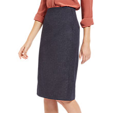 Buy Jaeger Donegal Pencil Skirt, Navy/Ivory Online at johnlewis.com