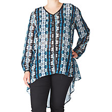 Buy ADIA Printed Tunic Top, Lake Blue Online at johnlewis.com