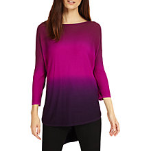 Buy Phase Eight Lynda Double Dip Dye Jumper, Magenta Online at johnlewis.com