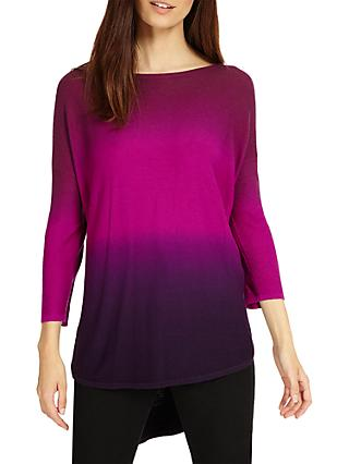 Phase Eight Lynda Double Dip Dye Jumper, Magenta