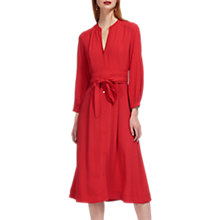 Buy Whistles Kamala Belted Dress, Dark Red Online at johnlewis.com