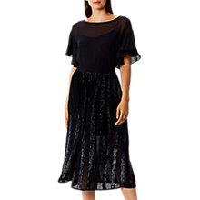 Buy Coast Joey Sequin Panelled Skirt, Navy Online at johnlewis.com