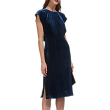 Buy Whistles Nicole Cut Out Velvet Dress, Sapphire Blue Online at johnlewis.com