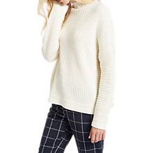 Buy Jaeger Rib Funnel Neck Jumper, Ivory Online at johnlewis.com