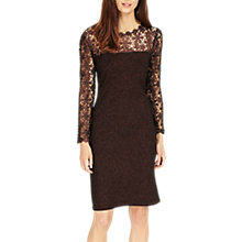 Buy Phase Eight Foil Suzy Dress, Port Online at johnlewis.com