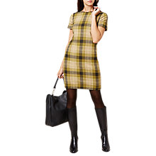 Buy Hobbs Carr Check Dress, Green Online at johnlewis.com