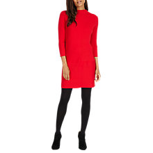 Buy Phase Eight Francesca Rib Knit Dress, Red Online at johnlewis.com