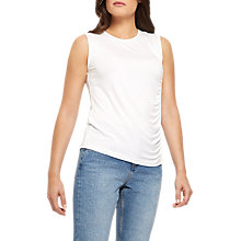 Buy Jaeger Ruched Panel Top, Ivory Online at johnlewis.com