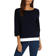 Buy Phase Eight Rufina Ripple Stitch Knit Jumper, Navy Online at johnlewis.com
