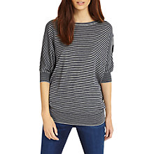 Buy Phase Eight Becca Batwing Mixed Stripe Jumper, Navy/Grey Online at johnlewis.com