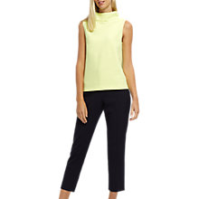Buy Jaeger Cotton Contour Padded Jacquard Top, Lime Online at johnlewis.com